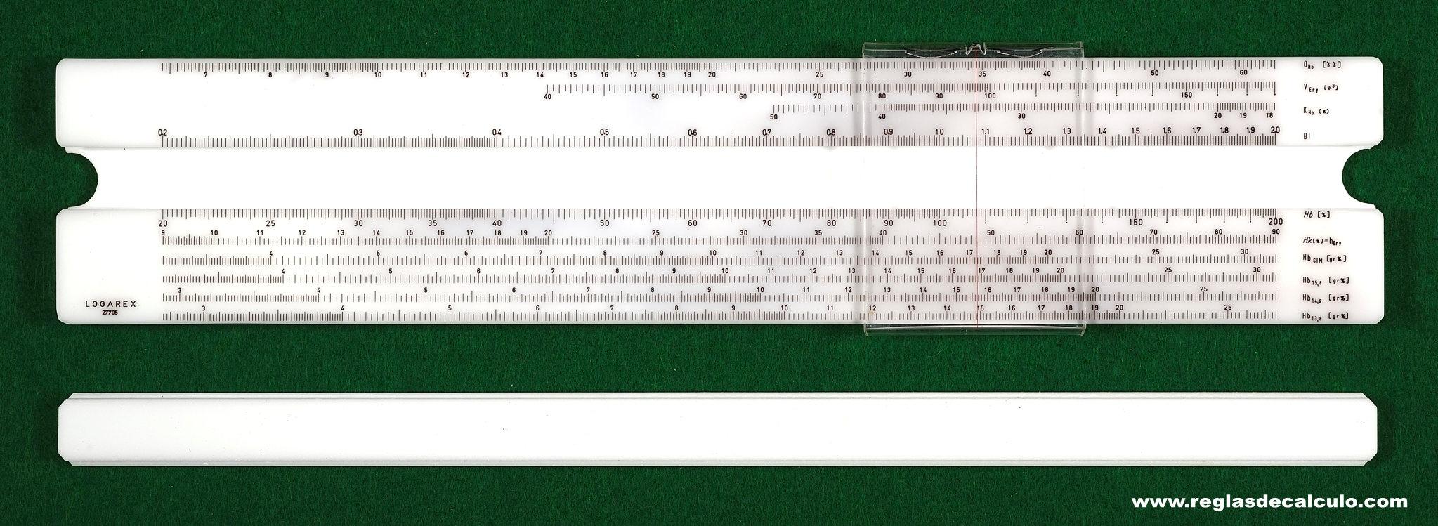 Logarex 27705 Regla de calculo Slide Rule